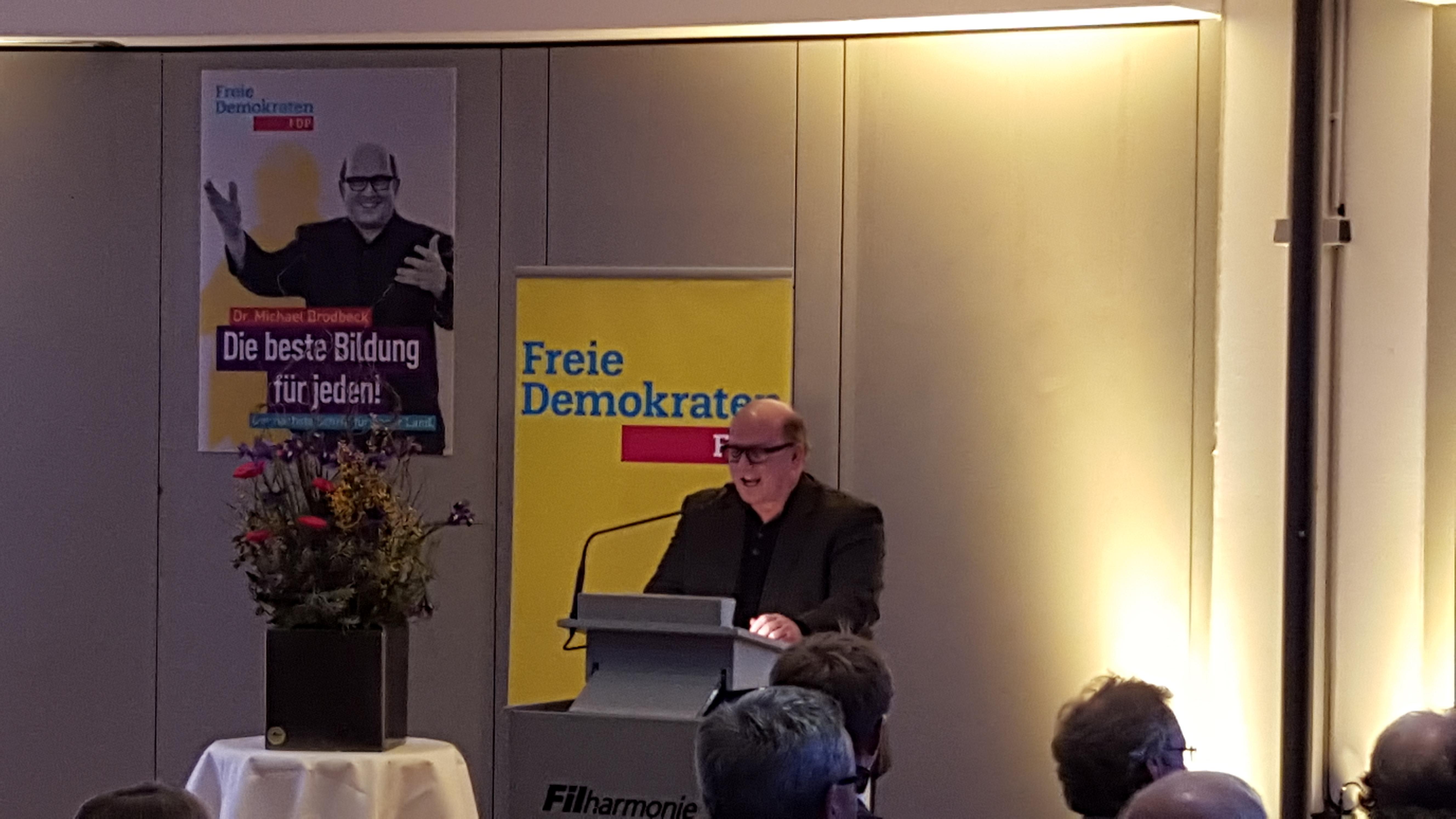Dr. Michael Brodbeck, Landtagskandidat der Freien Demokraten im Wahlkreis Nürtingen Filder